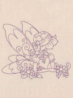Redwork Fairies 10