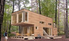storage container homes - luxury shipping container home. most amazing shipping container homes. Shipping Container Guest House By Poteet Architects 1 Storag. Building A Container Home, Storage Container Homes, Container House Design, 40ft Container, Storage Containers, Container Cabin, Cargo Container, Container Pool, Container Plants