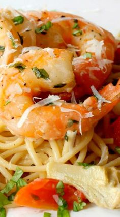 Skillet Shrimp and Artichoke Pasta