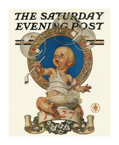 The Art of Blowing Bubbles past and present. This 1927 Saturday Evening Post magazine cover says it all. What is this fixation toddlers have with bubbles? It brings out the inner child in all of us as it always has.