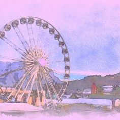 31 Likes, 32 Comments - CapeTown Art Watercolour, Free Instagram, Pink Sky, Cape Town, South Africa, Filter, Fair Grounds, Scene, Photo And Video