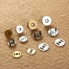 10/50Set 14/18mm Magnetic Fastener Snaps Clasp for Purse Button Sewing Craft Too #UnbrandedGeneric