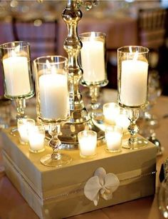 I love this box idea, instead of a mirror for under your centerpiece. It adds height and you can make it in the color of your choice!