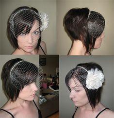 Birdcage veil - Opinions needed! :  wedding birdcage veil Headband