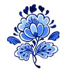 Tattoo flower delfts
