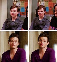Kurt on Glee season 1 & season 5