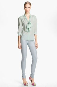 Alice + Olivia Tie Neck Blouse available at Nordstrom
