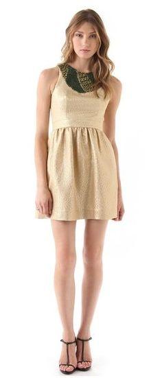 REVEL: Gold Lamé Dress $308 (30% off!)