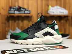9abe52cad8fc Nike Air Huarache Run Premium Green black Mens Womens Running Winter Shoes  Winter Running