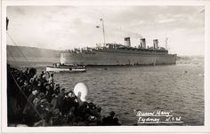 HM Troopship Queen Mary in Sydney, World War II