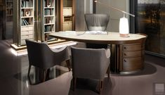 Giorgetti Erasmo Desk - Erasmo is an innovative executive desk with fluid and linear lines, which create a unique design and an exceptional structure. Worldwide shipping available. Luxury Interiors Check more at https://www.everythingbutordinary.co.uk/product/giorgetti-erasmo-desk/