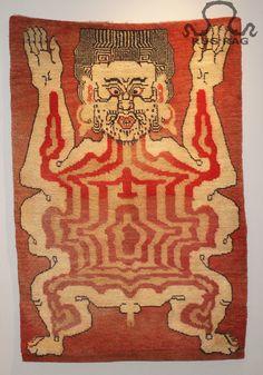 Antique Tantric Carpet, Flayed Man
