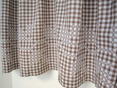 Vintage Apron Brown and White Gingham Check by PickingCotton, $12.00