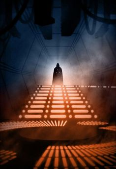 """Star Wars Episode V """"The Empire Strikes Back"""" - Darth Vader at the Carbonite Freezing Chamber on Cloud City on Bespin."""