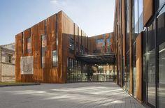 Feilden Clegg Bradley Studios- Corten Steel Facade