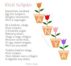 Vers ötlet Anyák napjára #anyamesélj #hermannmarika #vers #versike #gyermekvers #óvodásoknak #anyáknapja #anyáknapjára #anyáknapi…