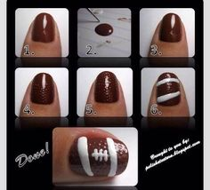 Really Cute Football Nail Art Tutorial  #Fashion #Beauty #Trusper #Tip