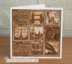 StampingMathilda: Darkroom Door - Travel Squares Collage #2