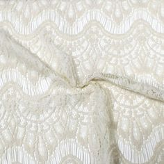 Natural Eyelash Cotton Blend Lace Fabric by the by LaceFabrics