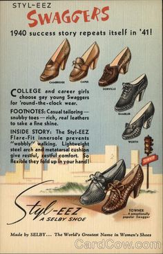 1940's Swaggers Shoes Salesman's Sample