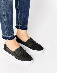 Image 1 of TOMS Altair Felt Slip On Trainers