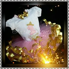 Pink & Gold Tutu Set by Magnificentutus on Etsy