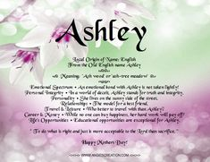 What does ashley mean in greek