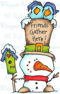 ⌘ WHIPPER SNAPPER DESIGNS ⌘ Gather Here Snowman