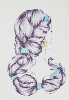 A Whole New World by ~Lamorien on deviantART  This artist did a series of Disney Princess hair, lovely :)