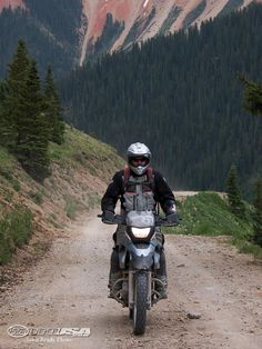 Trans America Trail. 5000 miles across America on dirt roads and trails. The trail heads over Cinnamon Pass  one of many high-elevation mountain crossing in Colorado.