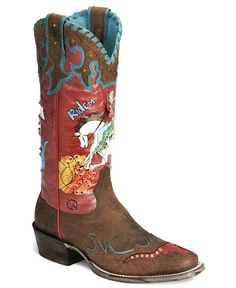 Ariat Quincy Collection Bronco Billie Cowgirl Boot - Square Toe