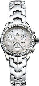 TAG Heuer Women's CJF1314.BA0580 Diamond Chronograph Watch, (elegant ladies sports watch, tag heuer, diamond, diamond watch, elegant, ladies, luxury, tagheuer, watches)