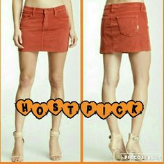 Mother OFFER $15 Orange Corduroy Mini Skirt This skirt is brand new with some tags still attached. It is the Little Bit Country Cord S.N.S Skirt in Dye-Gulmohar Orange, which is a bright orange. It does have a raw hem line and made of 98% cotton 2% elastane. Please note that the skirt for sale is a more brighter orange color than the stock pics. Mother Skirts Mini
