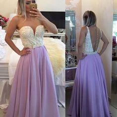 Purple Prom Dress, Peals Prom Dress, Long Prom Dress, Chiffon Prom Dress, Sexy Prom Dress, Elegant Prom Dress, Cheap Prom Dress, Formal Party Dress, Prom Dresses 2017
