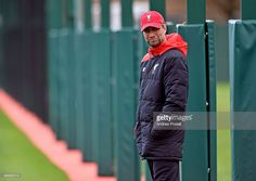 Jurgen Klopp manager of Liverpool during a training session at Melwood Training Ground on November 27, 2015 in Liverpool, England.