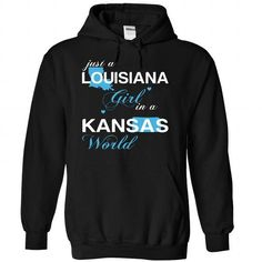 (LAJustXanh001) Just A Louisiana Girl In A Kansas World #tee #Tshirt