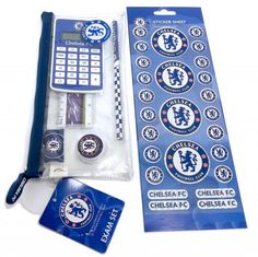 Chelsea Football Club School Exam Kit Calculator Pencil Case Eraser Sticker Set in Home, Furniture & DIY, Stationery & School Equipment, Pencil Cases | eBay #HarvardMills #LordOfTheLinens #Chelsea #ChelseaFootballClub #CFC #football #sport #support