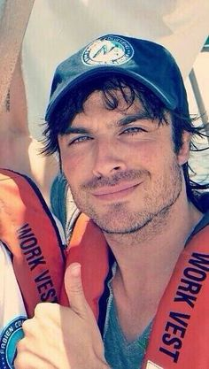 Ian Somerhalder so happy to be in the water and talking about conservation - what a smile!