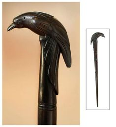 Wood Walking Stick,'the Raven' - Buy Bali Wood Carving Art Wood Carving Mask Bali Animal Wood Carving And Wood Walking Stick Product on Alibaba.com