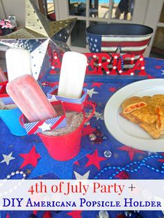 SavingSaidSimply.com - 4th of July Party + DIY Popsicle Holder #SummerGoodies #shop