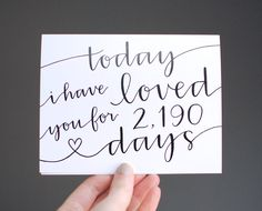 Adorable anniversary card