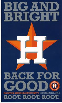 Houston Astros! Can't wait to see them play the Rangers!