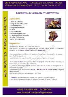 Tapas - Bouchées au saumon et crevettes - Tupperware Tupperware Pressure Cooker, Tupperware Recipes, Marmite, Mini Muffins, Parfait, Tapas, Food, Vegan, Healthy