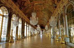 15.- Sala de los Espejos, Versalles, Francia.