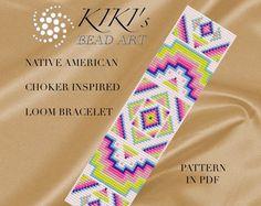 Bead loom pattern Intense mood LOOM bracelet PDF por KikisBeadArts