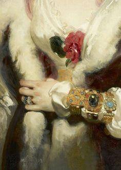 Sir Thomas Lawrence - Julia, Lady Peel, (detail), 1827