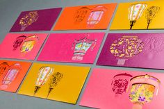 This is a self-promotion Lai See package design for demonstrating the outstanding technique this print shop can do. The printer gave this out in Chinese New Year as a promotional gift. Instead of using traditional red and gold, we use Lantern as the Chine…