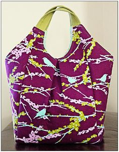 love everything about this bag, fabric color shape, can't wait to make it. Emily Bag PDF Pattern