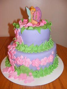 Girly Tinkerbell Cake!