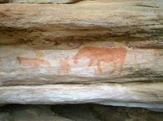 Ancient cave painting, S.Africa